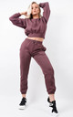 Chocolate Fleeced Sweatshirt & Jogger Co-ord Set by Boutique Store