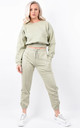 Sage Fleeced Sweatshirt & Jogger Co-ord Set by Boutique Store