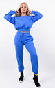 Blue Fleeced Sweatshirt & Jogger Co-ord Set by Boutique Store
