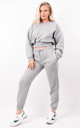 Grey Fleeced Sweatshirt & Jogger Co-ord Set by Boutique Store