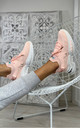 Azize Sock Sneakers in Pink by Larena Fashion
