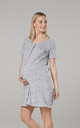 Maternity Breastfeeding Nightdress for Labour in Grey by Chelsea Clark