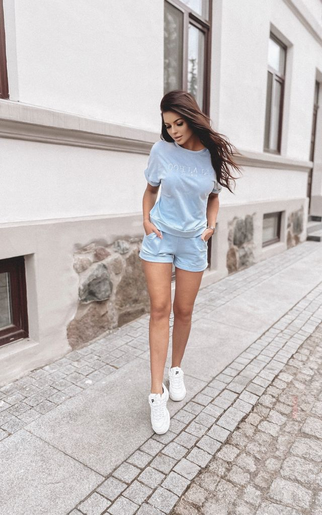 Comfy Summer Set in Blue by By Ooh La La