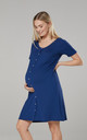 Maternity Breastfeeding Nightdress for Labour in Navy by Chelsea Clark