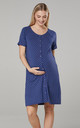 Maternity Breastfeeding Nightdress for Labour in Blue by Chelsea Clark