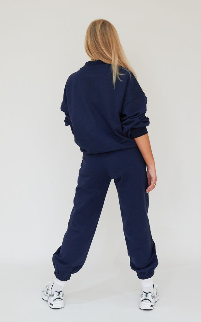 AP Contrast Jumper in Navy by Awfully Pretty