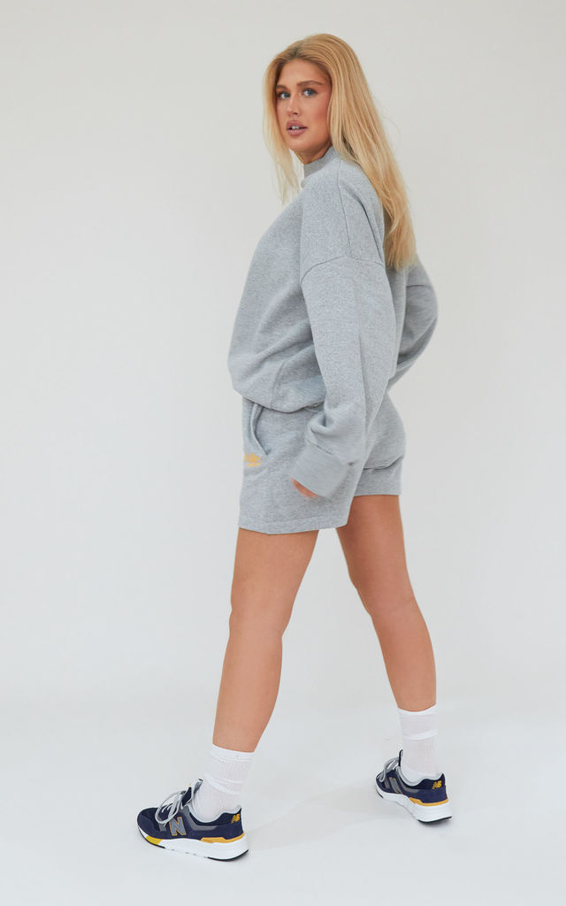 AP Contrast Shorts in Grey by Awfully Pretty