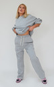 Pin-tuck Straight Joggers in Grey by Awfully Pretty