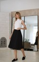 Elegant Flared Midi Skirt in Black by Bergamo