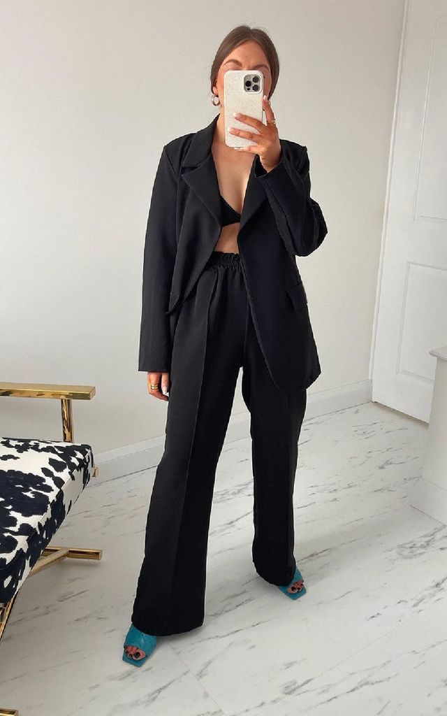 Bondi Tailored Suit Co-ord in Black by IKRUSH