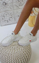 Jessica Knitted Trainer in White by Larena Fashion