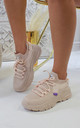 Jessica Knitted Trainer in Pale Pink by Larena Fashion