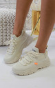 Jessica Knitted Trainer in Beige by Larena Fashion