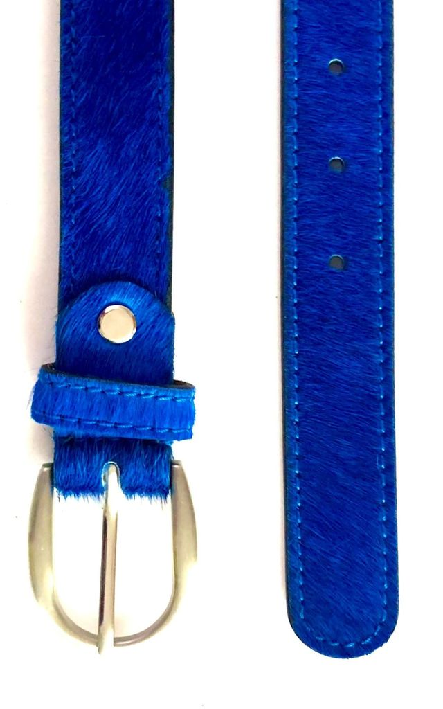 Royal Blue Leather Ladies Belt by hydestyle london