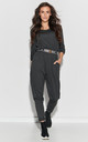 Loose Airy Jumpsuit with Pockets in Graphite by Makadamia