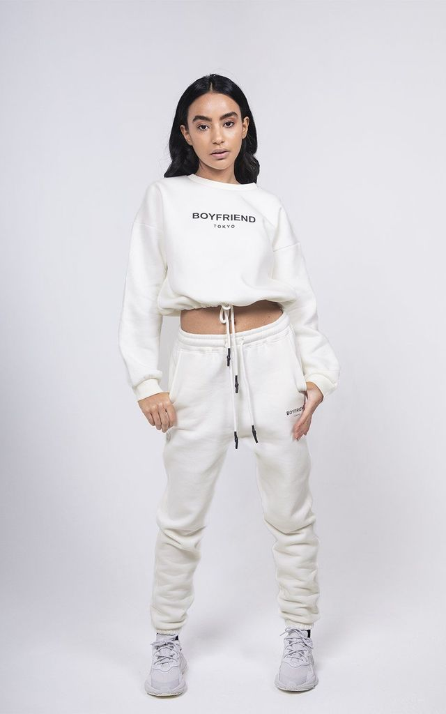 Off white crop top sweat by Boyfriend Tokyo