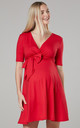 Women's Maternity Baby Shower  Mini Sundress in Red by Chelsea Clark