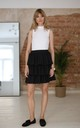 Mini Skirt With Ruffles in Black by Bergamo