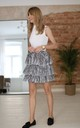 Mini Skirt With Ruffles in Zebra Print by Bergamo