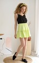 Mini Frill Skirt in Green by Bergamo