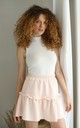 Mini Frill Skirt in Pink by Bergamo