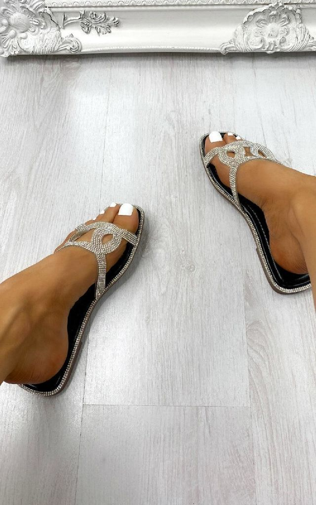 Britney Sandals in Black by IKRUSH