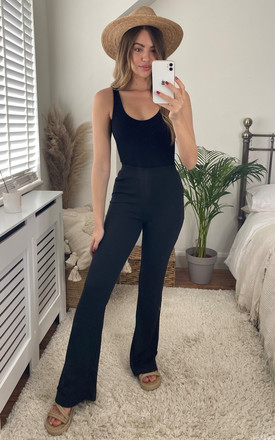 Flared High Waist Trousers In Black by Noisy May Product photo