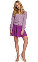 Comfy Buttoned Cardigan in Purple by Dursi