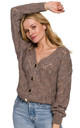 Comfy Buttoned Cardigan in Brown by Dursi