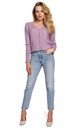 Delicate V-Neck Sweater in Purple by Dursi