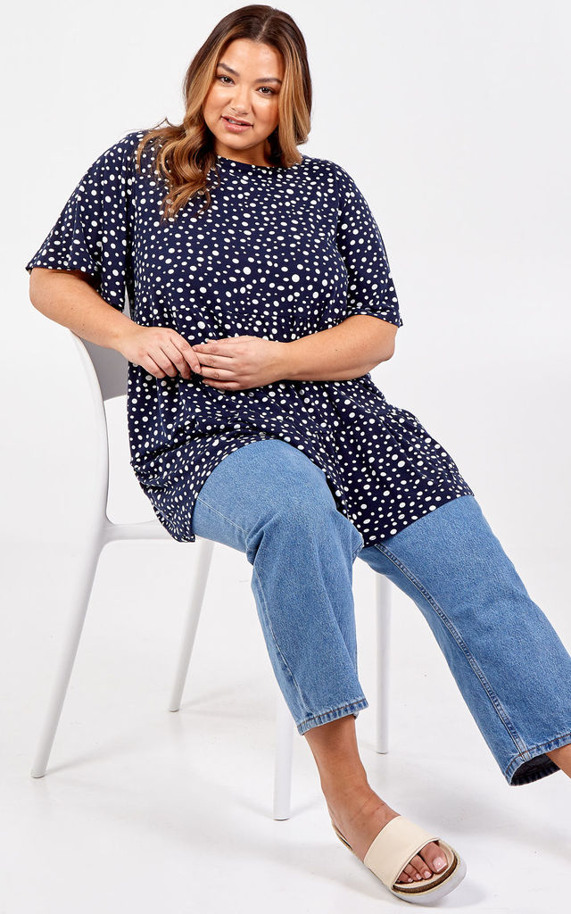 Penelope Curve Oversized Smock Short Sleeve Top by Blue Vanilla