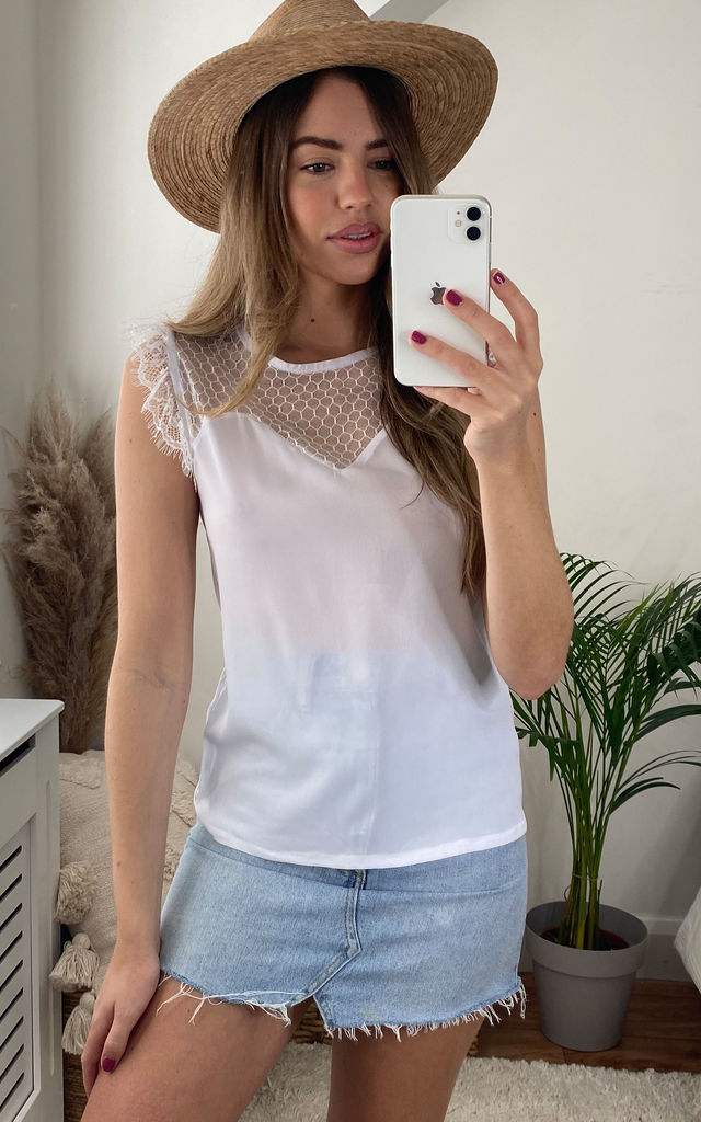 White Lace Summer Top by Jenerique