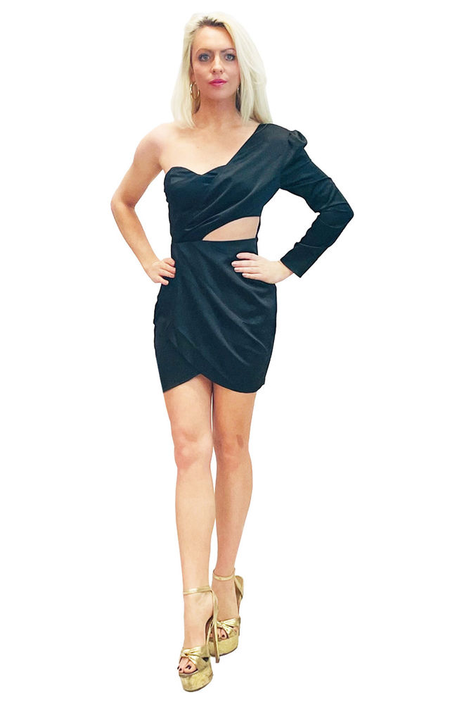 Black Cut out mini dress by Lashes of London