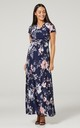 Nursing & Maternity Maxi Dress with Floral Print 599 by Chelsea Clark