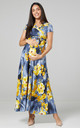Nursing & Maternity Maxi Dress Graphite with Floral Print 599 by Chelsea Clark