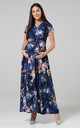 Nursing & Maternity Maxi Dress in Navy with Floral Print 599 by Chelsea Clark