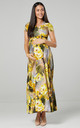 Nursing & Maternity Maxi Dress in Olive with Yellow Flowers by Chelsea Clark