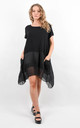 Black Oversized Short Sleeve Pocket Tunic by Boutique Store
