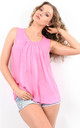 Pink Sleeveless Crinkle Effect Top by Boutique Store
