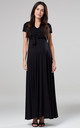 Maternity & Nursing Maxi Dress in Black by Chelsea Clark