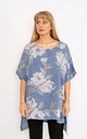 Blue Floral print linen top. by Lucy Sparks