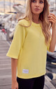 Loose Short Sleeve Top in Yellow by MOE