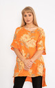 Orange Floral print linen top. by Lucy Sparks