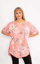 Coral Floral print linen top. by Lucy Sparks