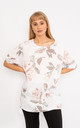 White Floral print linen top. by Lucy Sparks