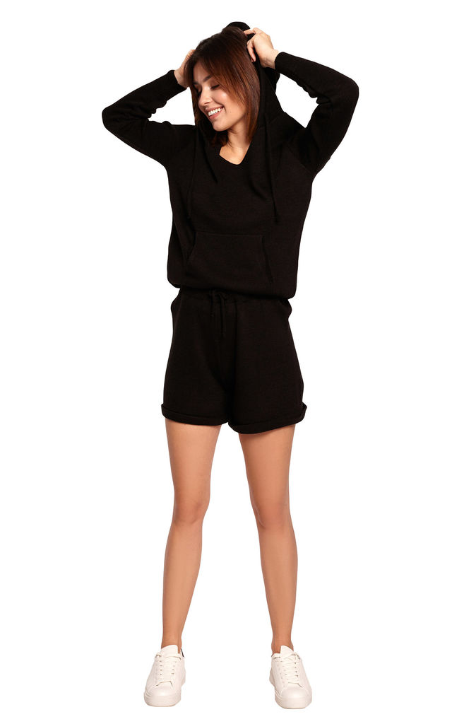 Knitted Shorts in Black by MOE