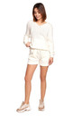 Knitted Shorts in White by MOE