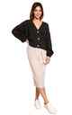 Comfy and Cozy Button Front Cardigan in Graphite by MOE