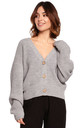 Comfy and Cozy Button Front Cardigan in Grey by MOE