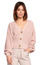 Comfy and Cozy Button Front Cardigan in Powder Pink by MOE